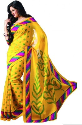 Shaurya Trendz Printed Bhagalpuri Cotton Sari