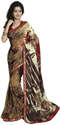 Jonikon Self Design Fashion Georgette Sari