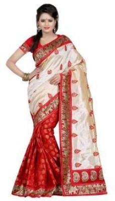 360bazaar Printed Fashion Silk Sari