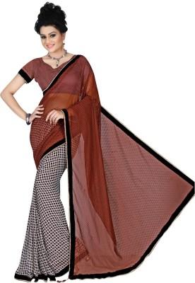 Bunny Sarees Checkered Fashion Georgette Sari