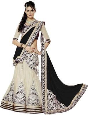 Vihana Embriodered Bollywood Net, Georgette, Chiffon, Jacquard Sari