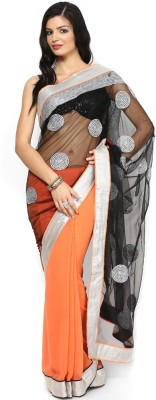 Ahuja Embriodered Bollywood Chiffon, Viscose Sari