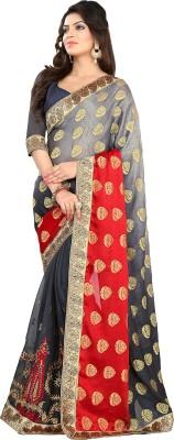 The Fashion World Embriodered Fashion Georgette Sari