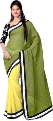 Ghanixa Fashion Self Design Bollywood Handloom Georgette Sari