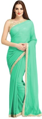 Hanuman Fabrics Embriodered Bollywood Handloom Georgette Sari