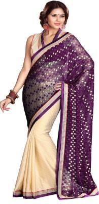 Sourbh Sarees Polka Print Fashion Jacquard, Crepe Sari