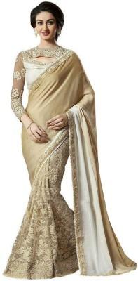 Om Shantam Saree's Embriodered, Self Design Bollywood Pure Georgette, Lace, Net Sari