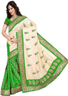 Radhe Fashion Printed Banarasi Cotton Sari