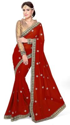 Mirchi Fashion Embriodered Fashion Georgette Sari