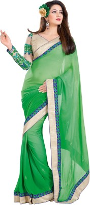Fashion On Sky Self Design Fashion Georgette Sari