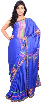 MSS Embriodered Bollywood Crepe Sari