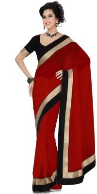 Darshanethnics Self Design Bollywood Handloom Chiffon Sari