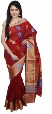 PSK Silks Embriodered Daily Wear Cotton Sari
