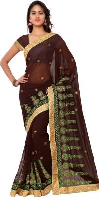 Gunjan Creation Embriodered Fashion Chiffon Sari