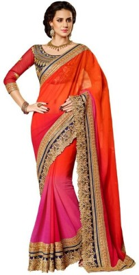 Om Fashion Self Design Bollywood Pure Georgette Sari
