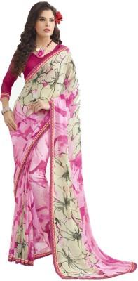 Vastrangsarees Floral Print Fashion Chiffon Sari