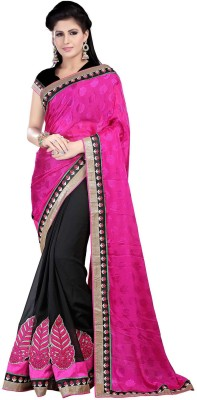 Sneh Varsha Sarees Floral Print, Embriodered Fashion Georgette Sari
