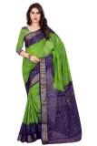 Sai Fabrics Printed Bandhani Art Silk Sa...