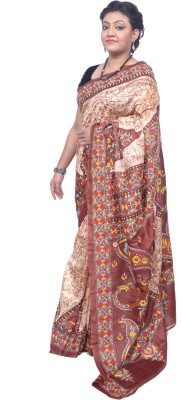 Tanjinas Paisley, Woven Murshidabad Silk Sari