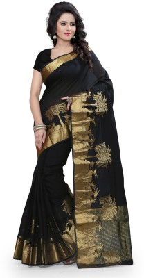Granth Self Design Bollywood Cotton Sari