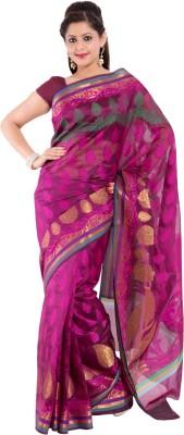 Sinjara Floral Print Banarasi Silk Sari