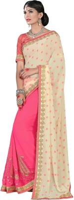 Surupta Embriodered Fashion Georgette, Jacquard Sari