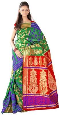 HIRA CREATION Embriodered Fashion Banarasi Silk Sari