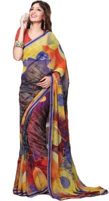 365 Labels Printed Daily Wear Georgette Sari