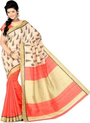 EthnicBasket Printed Fashion Art Silk Sari