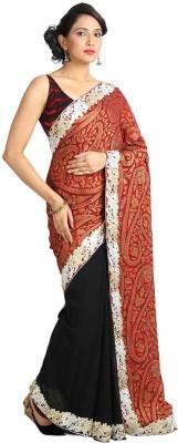 Vandanaraj Solid Bollywood Georgette Sari
