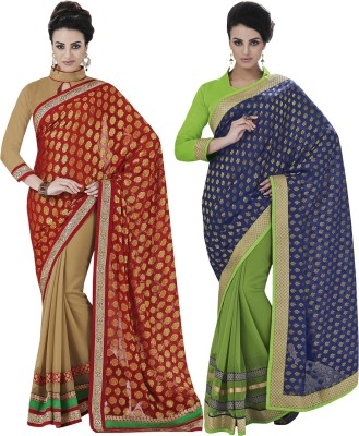 Indian Women By Bahubali Embellished Fashion Viscose Sari