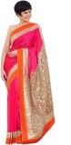 3NH Solid Bollywood Chiffon Saree (Pink)