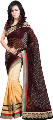 Bano Tradelink Embriodered Bollywood Jacquard Sari