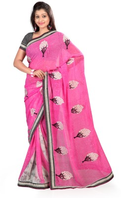 Ruddhi Self Design Fashion Georgette Sari