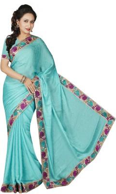 Maruti Fashion Solid Bollywood Satin Sari