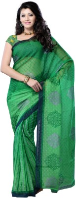 JTInternational Printed Fashion Jacquard Sari