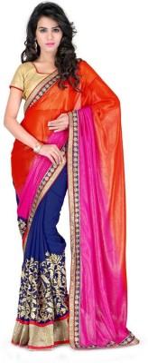 JVSN CREATION Self Design Fashion Georgette Sari