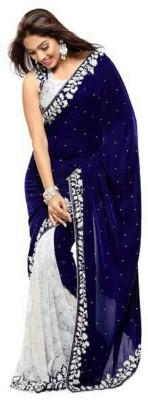 Beauty Choice Embriodered Daily Wear Velvet Sari