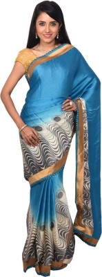 Arisidh Printed Bollywood Synthetic Georgette Sari