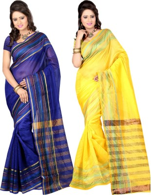 Dealtz Fashion Printed Chettinadu Kota Cotton Sari