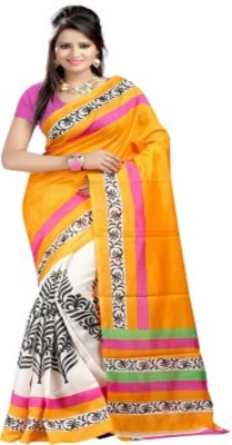 RajLaxmi Printed, Self Design Fashion Cotton Slub Sari