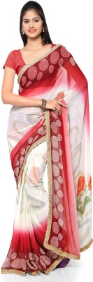 Kvsfab Self Design Fashion Pure Georgette Saree(Multicolor) at flipkart