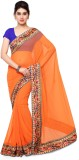 Rajnandini Plain Fashion Georgette Saree...