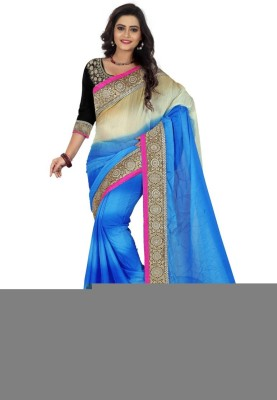 Sareeka Sarees Plain, Embriodered Bollywood Silk Sari