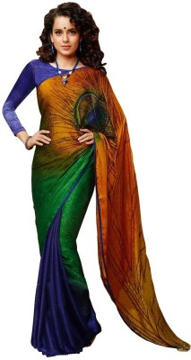 Aayna Printed Bollywood Jacquard Sari