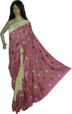 KheyaliBoutique Embriodered Fashion Handloom Pure Silk, Tussar Silk Sari