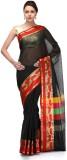 Bunkar Checkered Banarasi Cotton Sari (B...