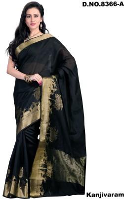 Aaditri Plain Kanjivaram Silk Cotton Blend Sari