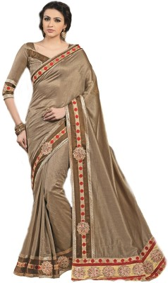 Kashish Lifestyle Self Design, Solid Fashion Viscose Sari