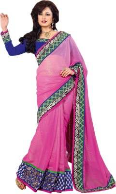 Hypnotex Self Design Fashion Georgette Sari